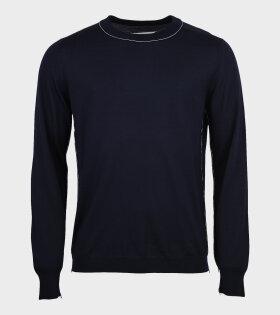 Maison Margiela - Pullover Knit Navy