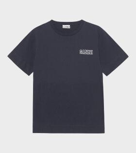 Ganni - Software T-shirt Dark Blue