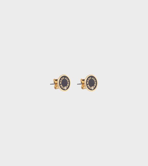 Marc Jacobs - The Medallion Studs Black/Gold