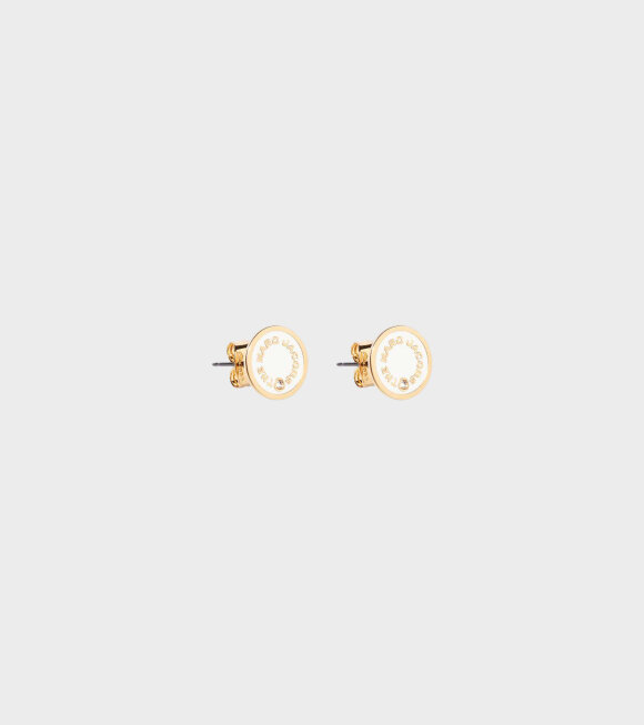 Marc Jacobs - The Medallion Studs Cream/Gold
