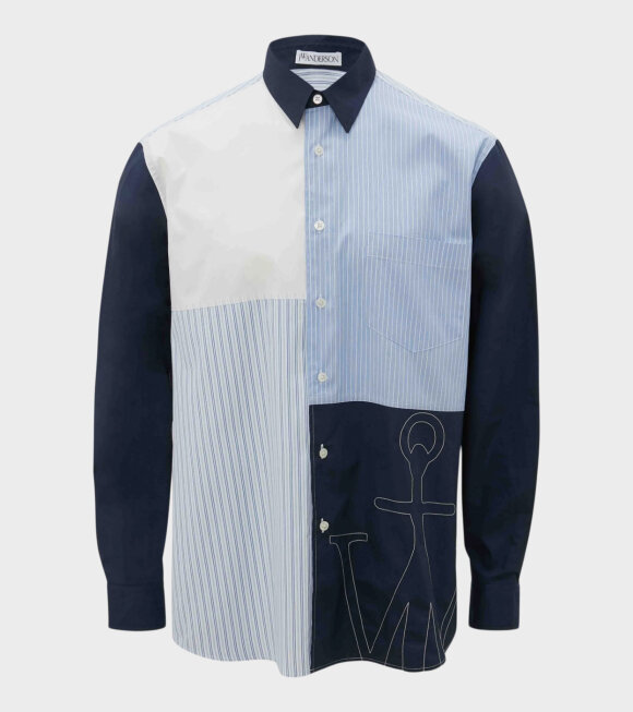 JW Anderson - Relaxed Patchwork Shirt Navy