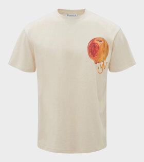 JW Anderson - Printed Peach Logo T-shirt Off-white