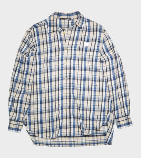 Acne Studios - Flannel Shirt Oat Beige/Blue