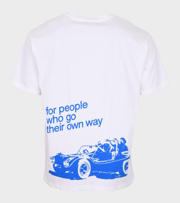 A.P.C - Steve T-shirt White/Blue