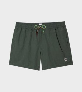 Paul Smith - Multicolour Zebra Swim Shorts Green