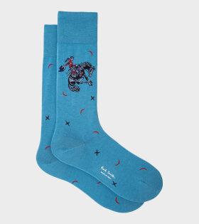 Paul Smith - Cowboy Socks Blue