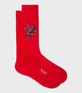 Paul Smith - Cowboy Socks Red