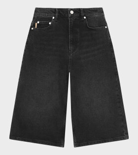 Ganni - High-Waisted Shorts Black