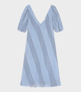 Ganni - Pleated Georgette Dress Heather