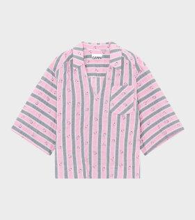Ganni - Oversized Blouse Pink Nectar