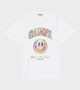 Ganni - Smiley T-shirt Bright White