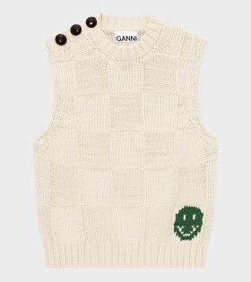 Ganni - Smiley Vest Brazillian Sand