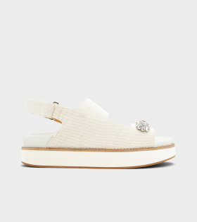 Ganni - Mid Deco Sandal Egret