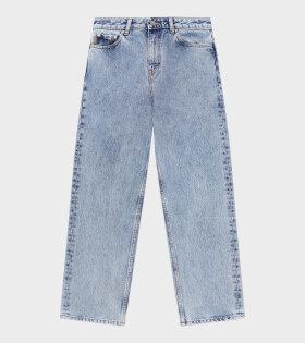 Ganni - High-Waisted Cropped Jeans Washed Indigo