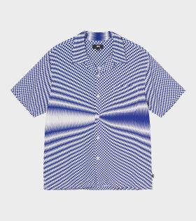 Stüssy - Psychedelic Check Shirt Blue