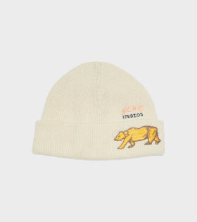 Acne Studios - Bear Rib Knit Beanie Hat Off-White