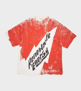 Acne Studios - Oversized T-shirt Red/Ecru