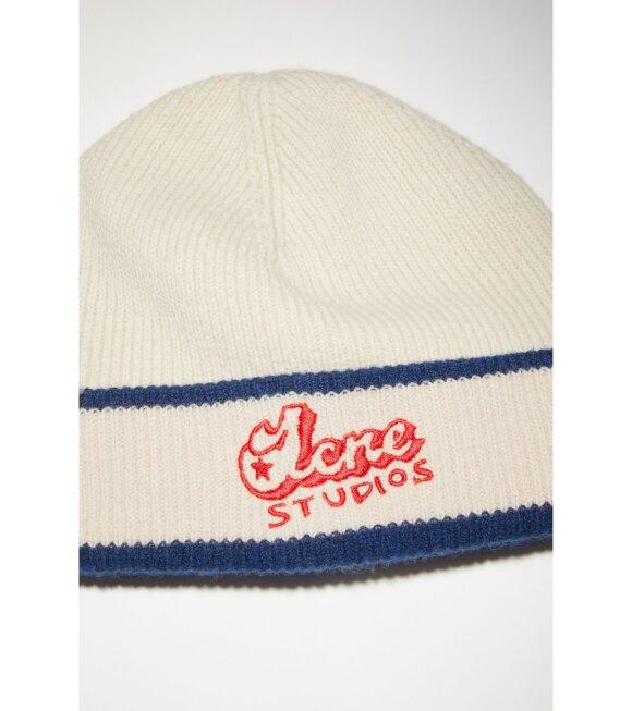 Acne Studios - Rib Knit Beanie Hat Off-White