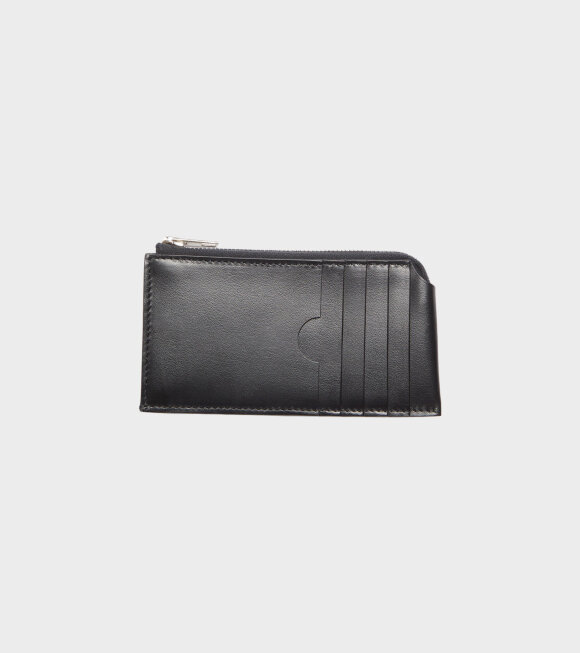Acne Studios - Leather Zip Wallet Black