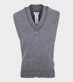 Maison Margiela - V-Neck Knit Vest Grey