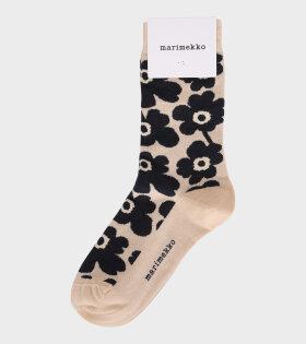 Marimekko - Hieta Unikko Socks Black