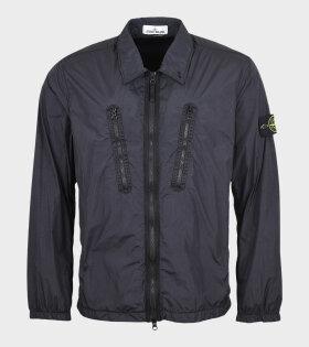 Stone Island - Zipper Overshirt Black