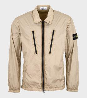 Stone Island - Zipper Overshirt Beige