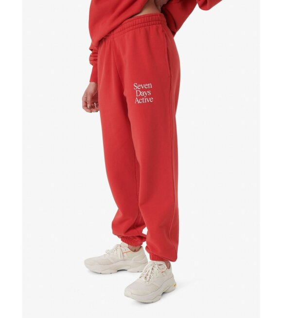 7 Days Active - Monday Pants Goji Berry Red