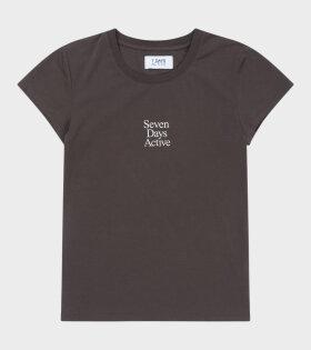 7 Days Active - Womens Tee Mulch Brown