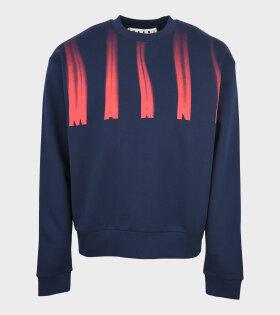 Marni - Fade Logo Sweatshirt Navy/Red