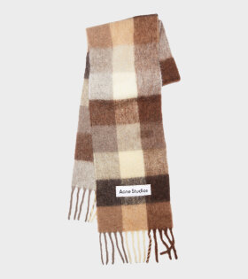Acne Studios - Large Check Scarf Brown