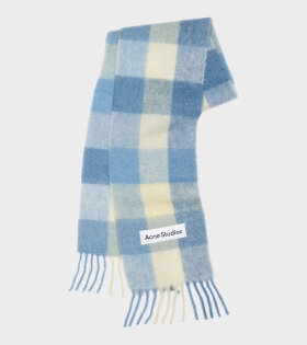 Acne Studios - Large Check Scarf Blue