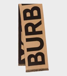 Burberry - Logo Wool Scarf Archive Beige