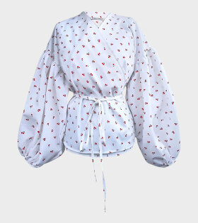 Sabina Sommer - Kamma Cherry Shirt White