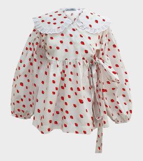 Sabina Sommer - Dina Strawberry Shirt White