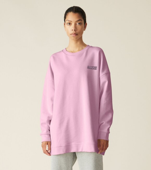 Ganni - Software Oversized Sweatshirt Sweet Lilac