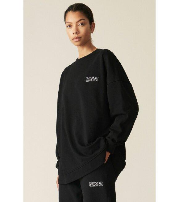 Ganni - Software Oversized Sweatshirt Black