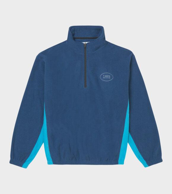 7 Days Active - Fleece Pullover Estate Blue