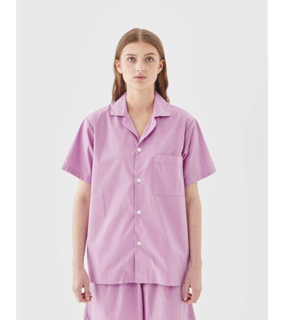 Tekla - Pyjamas S/S Shirt Purple Pink