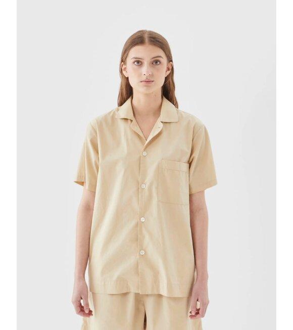Tekla - Pyjamas S/S Shirt Khaki