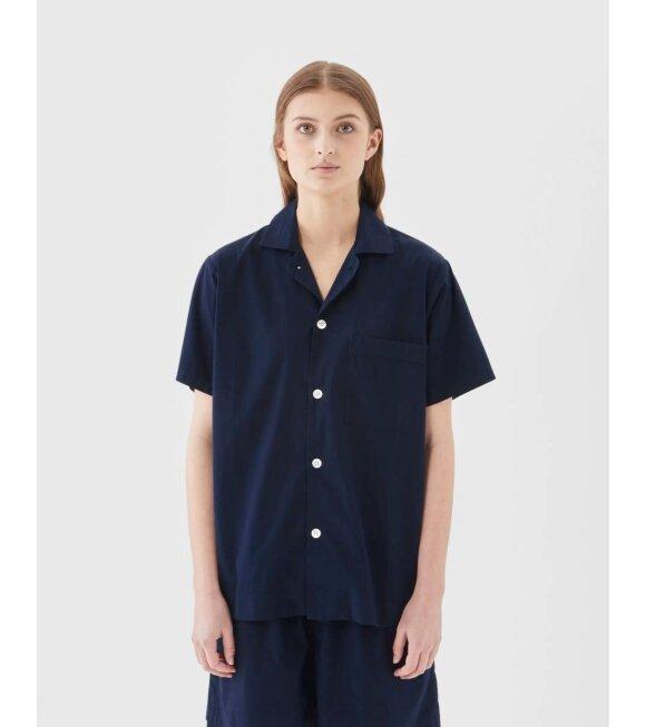 Tekla - Pyjamas S/S Shirt True Navy