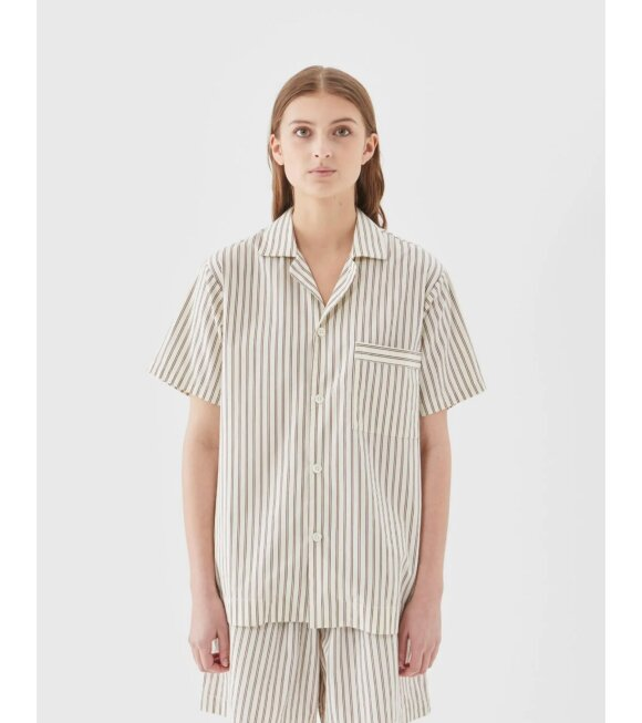 Tekla - Pyjamas S/S Shirt Hopper Stripes