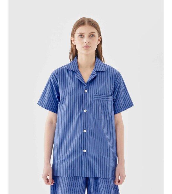Tekla - Pyjamas S/S Shirt Boro Stripes