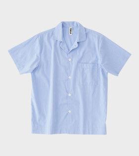 Tekla - Pyjamas S/S Shirt Pin Stripes