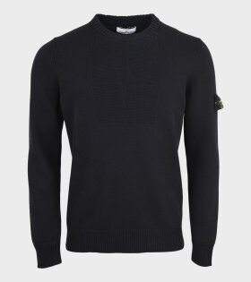 Stone Island - Embroidered Knit Black