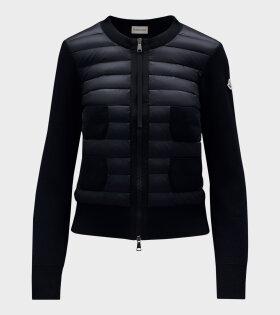 Moncler - Cardigan Tricot Black