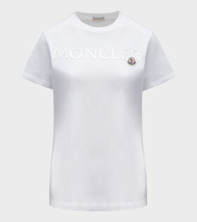 Moncler - Silver Logo T-shirt White