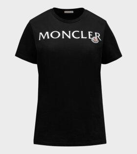 Moncler - Silver Logo T-shirt Black