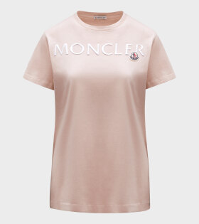 Moncler - Silver Logo T-shirt Pink