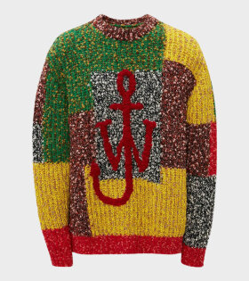 JW Anderson - Anchor Patchwork Crewneck Red/Multi